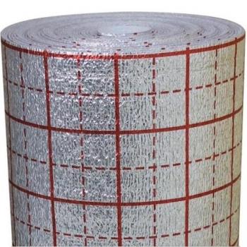 Подложка под теплый пол фольгированная (с разметкой), шир.100 см, толщ. - 2,0 мм